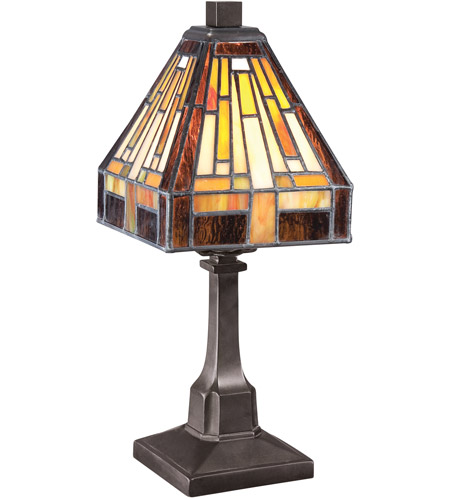 Quoizel TF1018TVB Stephen 12 Inch 25 Watt Vintage Bronze Table Lamp  Portable Light, Naturals Photo