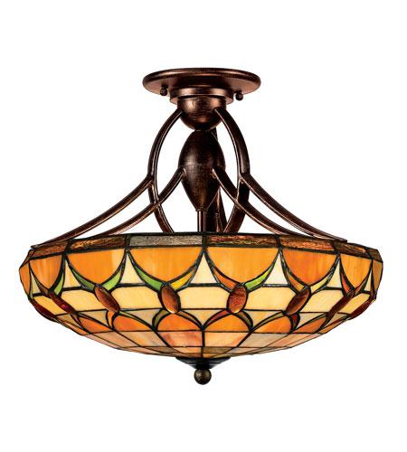 Quoizel Lighting Tiffany 2 Light Semi-Flush Mount In