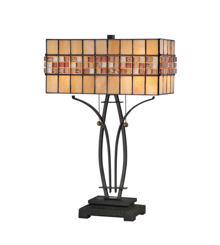 Quoizel Lighting Tiffany 2 Light Table Lamp in Vintage Bronze TF1178TVB photo