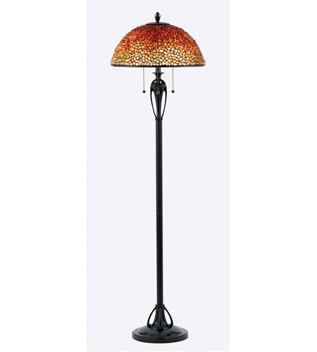 Quoizel TF135FBC Pomez 62 inch 75 watt Burnt Cinnamon Floor Lamp Portable Light, Naturals photo
