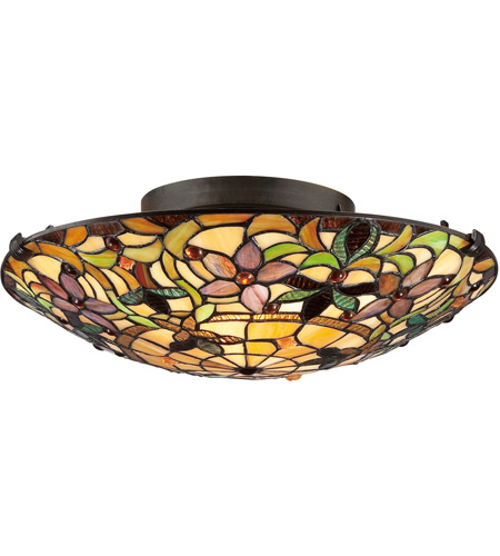 Quoizel tf1396svb tiffany 2 light 17 inch vintage bronze flush mount quoizel tf1396svb tiffany 2 light 17 inch vintage bronze flush mount ceiling light naturals aloadofball Choice Image