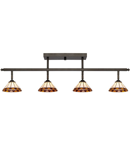 quoizel lighting tiffany 4 light ceiling track lights in imperial bronze tf1404ib ceiling track lighting