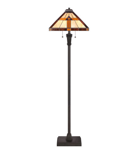 Quoizel TF1427F Tiffany 60 inch 100 watt Authentic Bronze Floor Lamp Portable Light, Naturals TF1427F_3.jpg