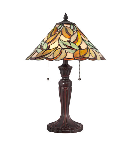 quoizel lighting tiffany 2 light table lamp in bronze tf1428t photo. Black Bedroom Furniture Sets. Home Design Ideas