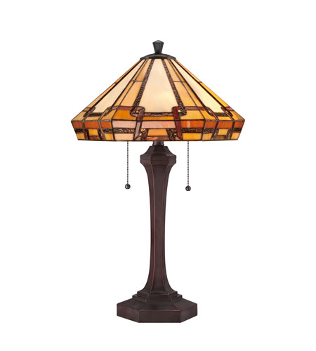 Quoizel Lighting Tiffany 2 Light Table Lamp in Russet TF1431TRS photo