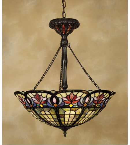 Quoizel TF1438VB Tiffany 3 Light 22 inch Vintage Bronze Pendant Ceiling Light photo