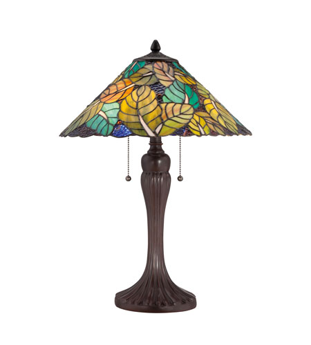 Quoizel Lighting Tiffany 2 Light Table Lamp in Russet TF1485TRS photo