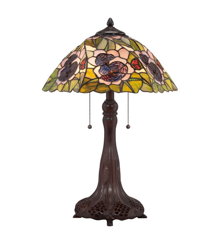 Quoizel Lighting Tiffany 2 Light Table Lamp in Russet TF1486T photo