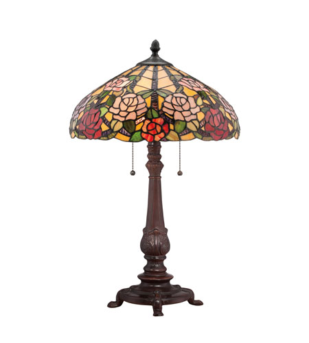 Quoizel Lighting Tiffany 2 Light Table Lamp in Russet TF1488TRS photo