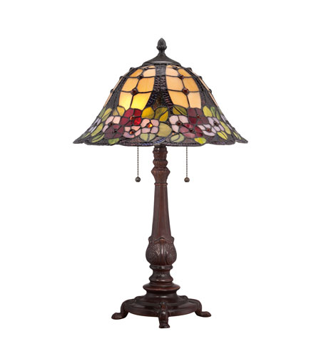 Quoizel Lighting Tiffany 2 Light Table Lamp in Russet TF1489TRS photo