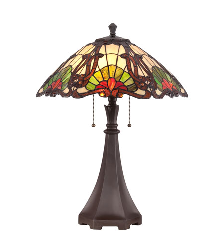 Quoizel Lighting Tiffany 2 Light Table Lamp in Western Bronze TF1504TWT photo