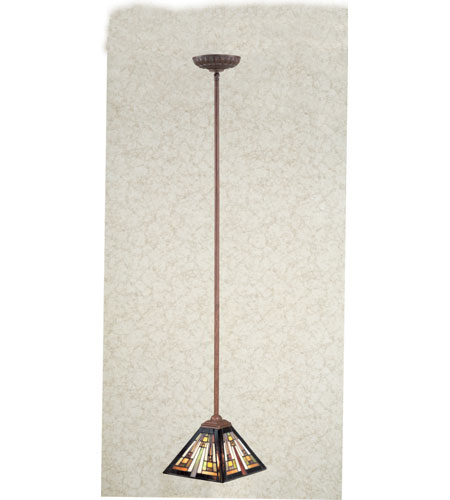 Quoizel Lighting Tiffany 1 Light Mini Pendant in Medici Bronze TF1516Z photo
