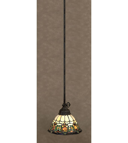 Quoizel Lighting Tiffany 1 Light Mini Pendant in Vintage Bronze TF1529VB photo
