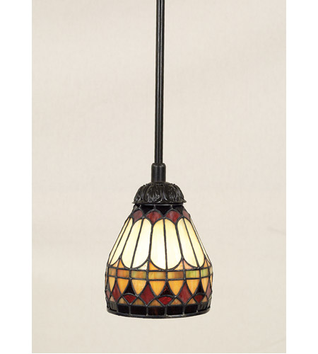 Quoizel Lighting Tiffany 1 Light Mini Pendant In Vintage
