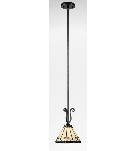 Quoizel Lighting Tiffany 1 Light Mini Pendant in Imperial Bronze TF1557IB