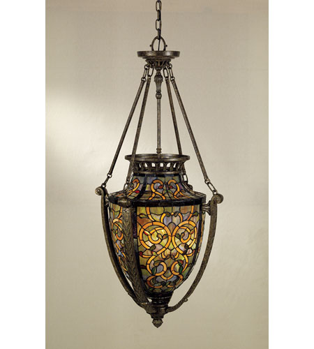 Quoizel Lighting Tiffany 4 Light Pendant in Malaga TF1721ML photo