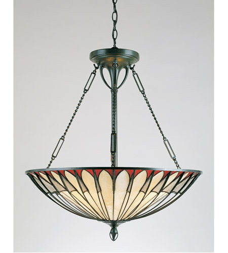 Quoizel Tf1816vb Tiffany 4 Light 22 Inch Vintage Bronze Pendant Ceiling Naturals