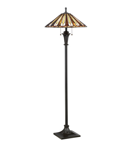 tiffany 60 inch 100 watt vintage bronze floor lamp portable light. Black Bedroom Furniture Sets. Home Design Ideas
