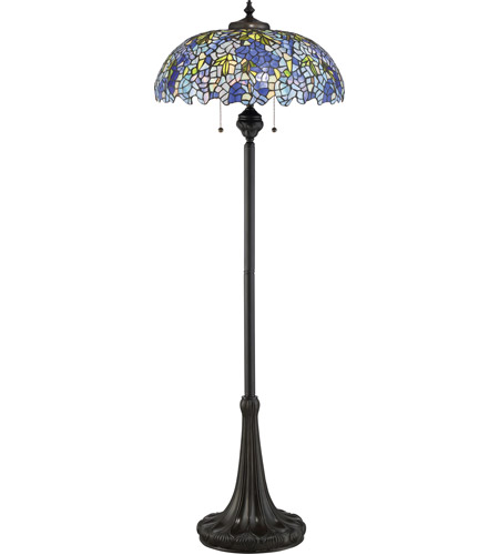 tiffany 61 inch 100 watt vintage bronze floor lamp portable light. Black Bedroom Furniture Sets. Home Design Ideas