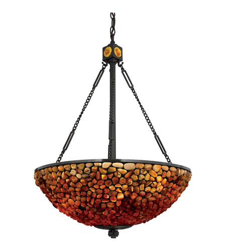 Quoizel Lighting Pomez 3 Light Pendant in Vintage Bronze TF2819VB photo
