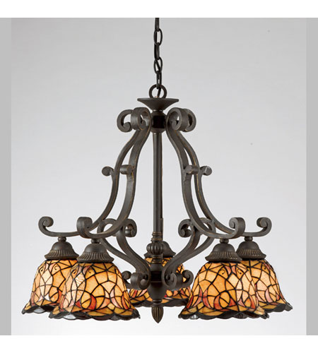 Quoizel Tiffany 5 Light Dinette Chandelier in Imperial Bronze TF5002IB – Quoizel Chandelier