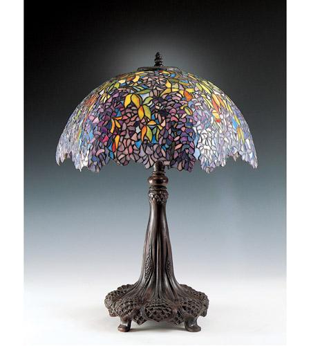 Quoizel TF6034R Tiffany 31 Inch 100 Watt Architectural Bronze Table Lamp  Portable Light, Naturals