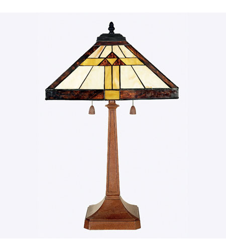 Quoizel Lighting Tiffany 2 Light Table Lamp in Medici Bronze TF6074Z photo