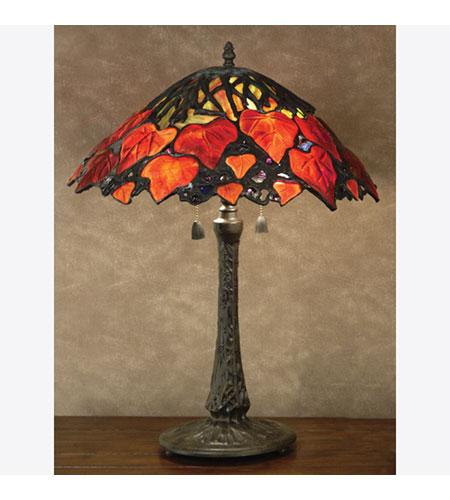 Quoizel Tiffany 2 Light Table Lamp In Vintage Bronze Tf6133vb