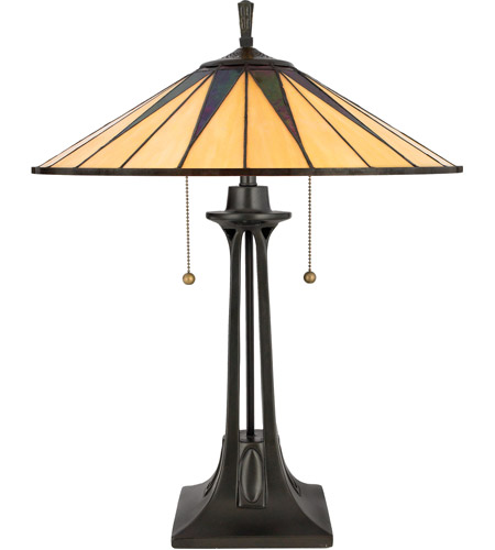 Quoizel TF6668VB Gotham 25 inch 75 watt Vintage Bronze Table Lamp Portable Light, Naturals photo