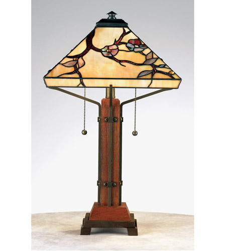 Quoizel Lighting Tiffany 2 Light Table Lamp in Multi TF6898M photo