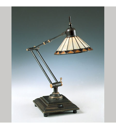 Quoizel Lighting Tiffany 1 Light Table Lamp in Medici Bronze TF7110Z photo