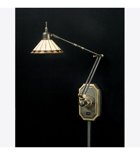 Quoizel Lighting Tiffany 1 Light Swing Arm Wall Light in Medici Bronze TF8156Z photo