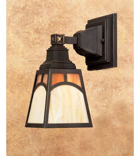 Quoizel Lighting Tiffany 1 Light Wall Sconce In Architectural Bronze Tf849r
