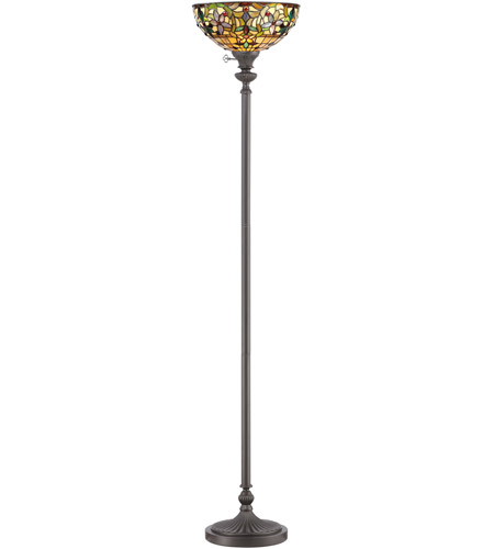 Quoizel TF878UVB Kami 70 inch 100 watt Vintage Bronze Torchiere Portable Light, Naturals photo