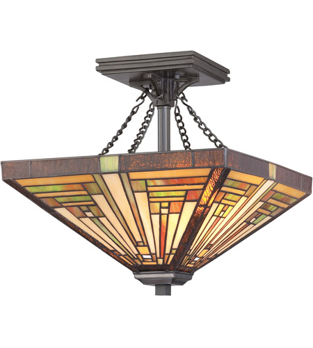 Quoizel TF885SVB Stephen 2 Light 14 inch Vintage Bronze Semi-Flush Mount Ceiling Light  photo