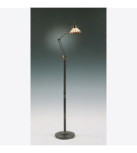 Quoizel Tiffany 1 Light Floor Task Lamp In Medici Bronze Tf9152z