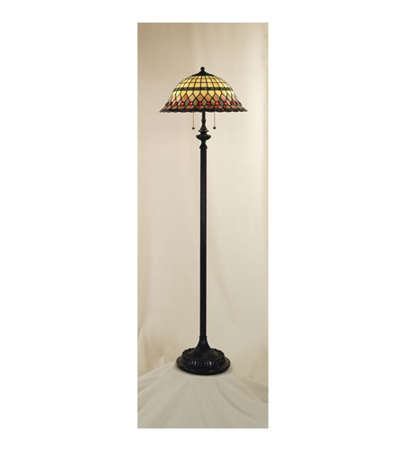 Quoizel Lighting Tiffany 2 Light Floor Lamp in Vintage Bronze TF9299VB photo
