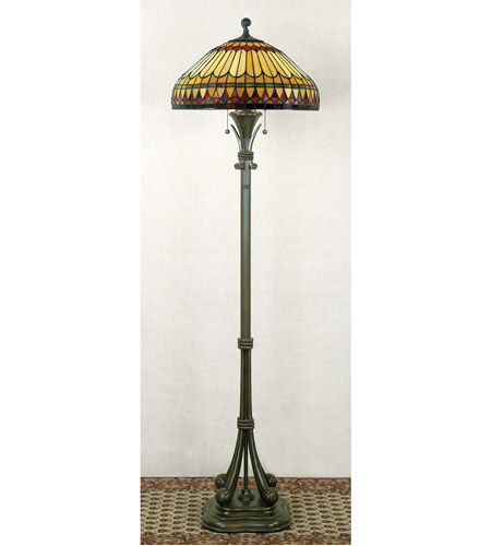 Quoizel Tiffany 2 Light Floor Lamp in Brushed Bullion TF9320BB photo