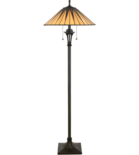 gotham 62 inch 100 watt vintage bronze floor lamp portable light photo. Black Bedroom Furniture Sets. Home Design Ideas