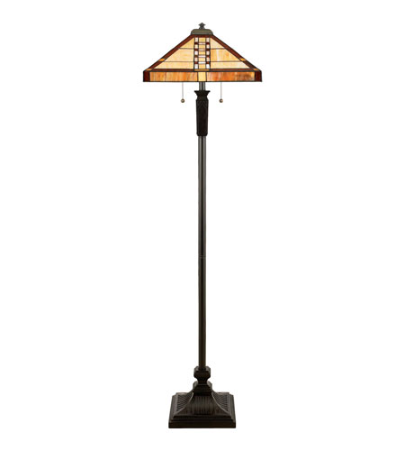 Quoizel Tiffany 2 Light Floor Lamp in Vintage Bronze TF9406VB photo