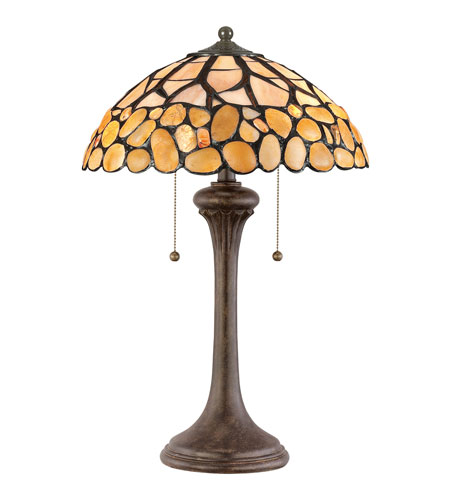 Quoizel Lighting Tiffany 2 Light Table Lamp TF958T photo