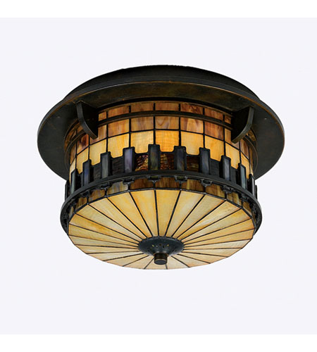 Quoizel Lighting Autumn Ridge 2 Light Outdoor Semi-Flush Mount in Bergamo TFAR1615BE photo