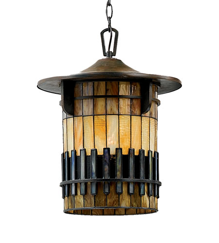 Quoizel Lighting Autumn Ridge 1 Light Outdoor Hanging Lantern in Bergamo TFAR1915BEFL photo