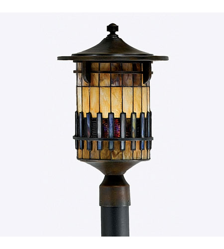 Quoizel Lighting Autumn Ridge 1 Light Outdoor Post Lantern in Bergamo TFAR9012BE photo