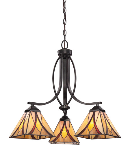 Quoizel TFAS5003VA Asheville 3 Light 23 inch Valiant Bronze Dinette Chandelier Ceiling Light, Naturals photo