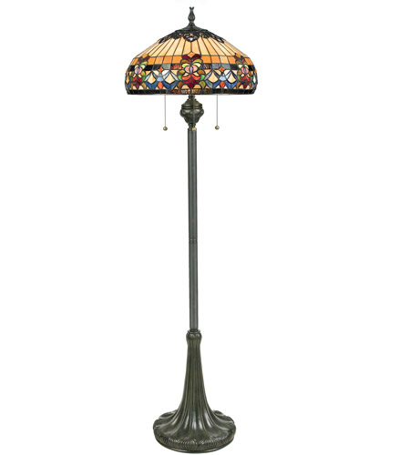 fleur 62 inch 100 watt vintage bronze floor lamp portable light photo. Black Bedroom Furniture Sets. Home Design Ideas
