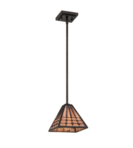 Quoizel Lighting Banks 1 Light Mini Pendant in Indio Bronze TFBK1507IO photo