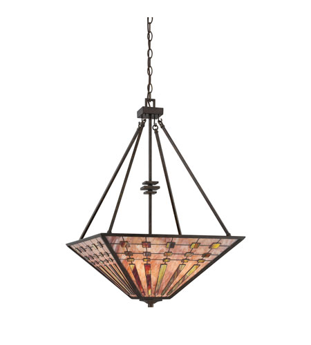 Quoizel Lighting Banks 4 Light Pendant in Indio Bronze TFBK2820IO photo