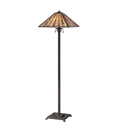 Quoizel lighting banks 2 light floor lamp in indio bronze tfbk988io aloadofball Images