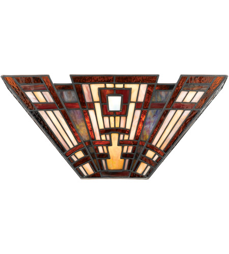 separation shoes 8e384 d7a78 Quoizel TFCC8802 Classic Craftsman 2 Light 16 inch Valiant Bronze Wall  Sconce Wall Light, Naturals